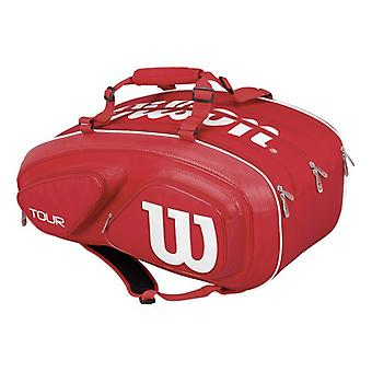Wilson tour V 15 racket bag red WRZ867615