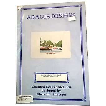 Abacus Designs Linlithgow Becken, Union Canal Cross Stitch Kit
