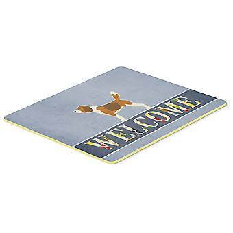 Carolines Treasures  BB5514CMT Beagle Welcome Kitchen or Bath Mat 20x30