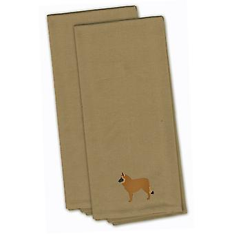 Belgian Shepherd Tan Embroidered Kitchen Towel Set of 2