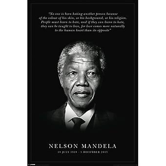 Nelson Mandela Gedenk Poster drucken (24 x 36)