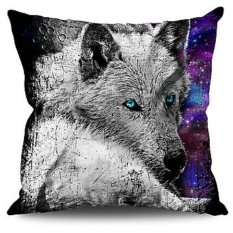 Wolf Space Beast Animal Linen Cushion Wolf Space Beast Animal | Wellcoda
