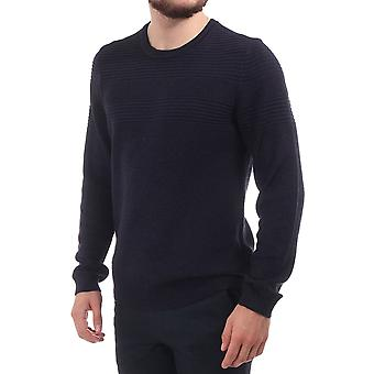 Ted Baker Mens Rossi Ls Mixed Stitch Cn Jumper