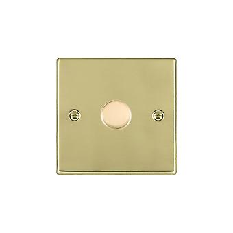 Hamilton Litestat Hartland Polished Brass 1g 600W 2 Way Dimmer PB