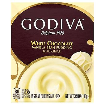 Godiva White Chocolate Vanilla Bean Instant Pudding Mix 2 Box Pack