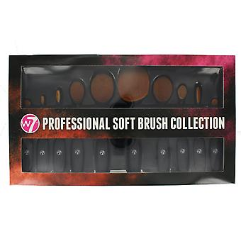 W7 Professional Soft Brush Collection 10 Piece Make Up Brush Set