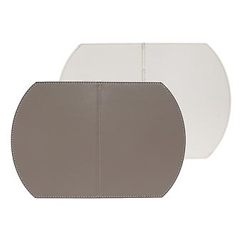 FreeForm Single Foldable Placemat, Taupe and White