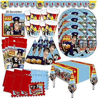 Postman Pat party set XL 56 for 6 guests post Messenger party birthday decoration party package