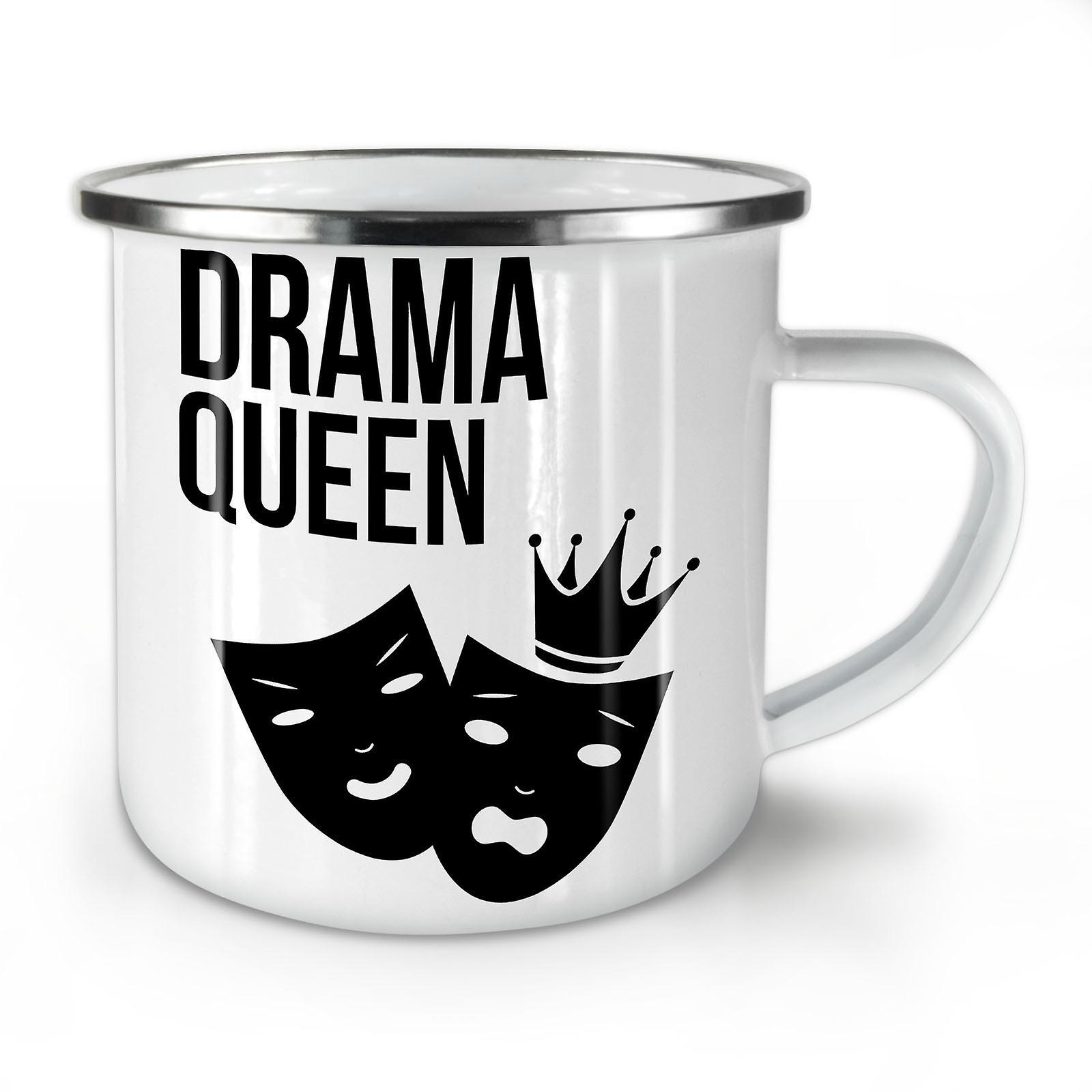 Queen Cool Whitetea OzWellcoda Drôle Café De Drama Nouvelle Mug10 Émail N8m0Ovnw