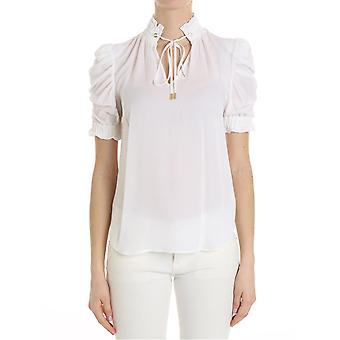 Michael by Michael Kors women's MH74LCYVY0100 white silk blouse