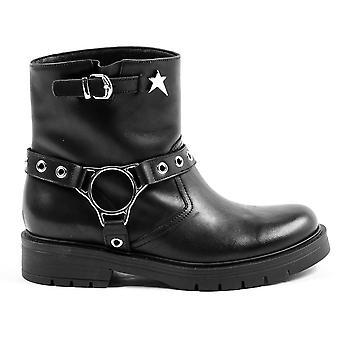 Andrew Charles Womens Short Boot Black Aretha