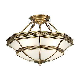 Interiors 1900 Balfour 4 Light Semi Flush Ceiling Fitting In A