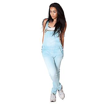 Lightweight Sky Blue Dungarees Womens summer dungarees Size 6-14 denim onsie