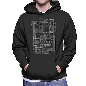 Apple I Computer Schematic Men's Hooded Sweatshirt