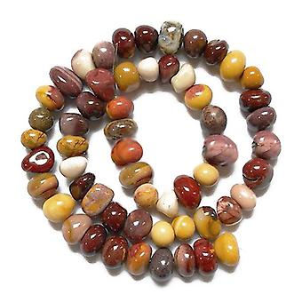 Strand 25+ Mixed Mookaite Approx 10 x 14mm Smooth Nugget Beads GS9728