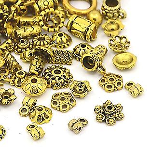 30 Grams Antique Gold Tibetan 5-40mm Mixed Shape Charm/Pendant Mix HA12970