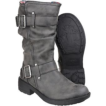 Rocket Dog Womens/Ladies Trumble Zip up Faux Leather Mid Calf Boots