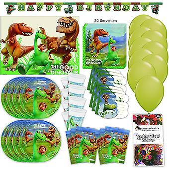 Arlo and spot Pixar party set XL 67-teilig 6 guests the good dinosaur birthday decoration party package