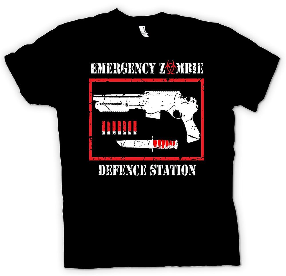 Mens T-shirt - Emergency Zombie Defense - Funny