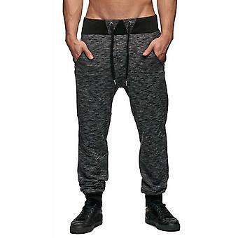 Tazzio fashion mix men's sweatpants black