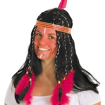 Small spring Indian wig braids feather headdress