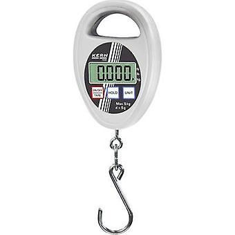Hanging scales Kern Weight range 5 kg Readability 5 g