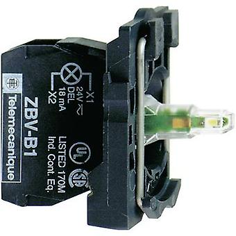 LED + fixing adapter, + bulb holder Yellow 24 Vdc, 24 V AC Schneider Electric ZB5AVB5 1 pc(s)