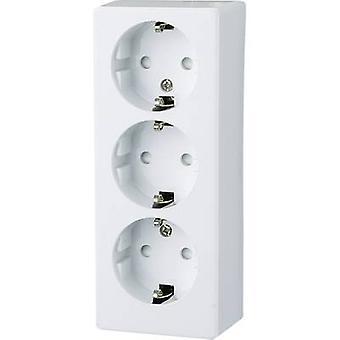 GAO 0306 3x Surface-mount socket Child safety Polar white