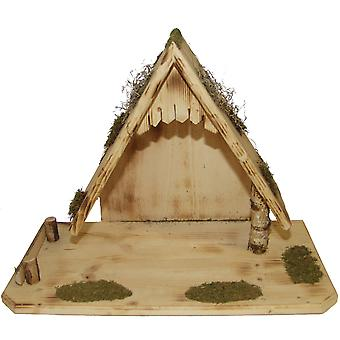 Crib Nativity scene wood Nativity stable ZACHARIAS hand work for characters up to 19 cm
