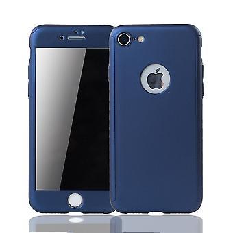 Apple iPhone 6 / 6s Plus Handy-Hülle Schutz-Case Cover Panzer Schutz Glas Blau