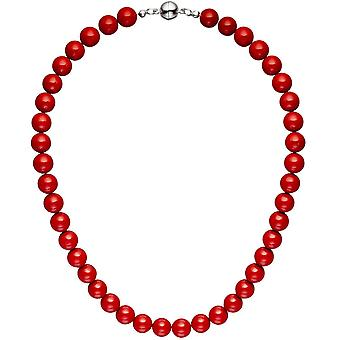 Necklace chain shell core Pearl Pearl red 45 cm necklace