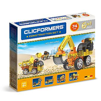 Clicformers Construction Set 6 in 1 Vehicles 74 PCS Building and Construction