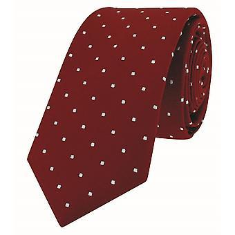 David Van Hagen Pin magro Dot Tie - rosso/bianco