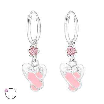 Ballet Shoee - 925 Sterling Silver Hoops - W32907x