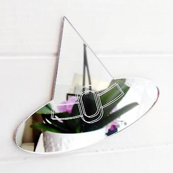 Engraved Halloween Witches Hat Acrylic Mirror