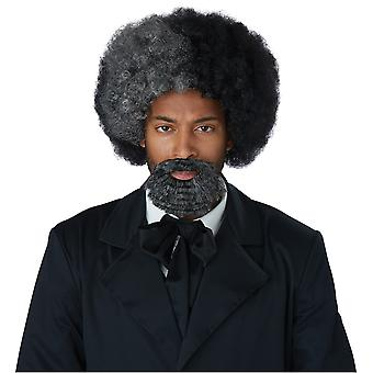 Frederick Douglass Civil War Grey Black Historical Mens Costume Wig and Goatee