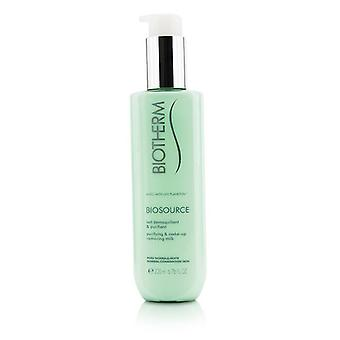 Biotherm Biosource Purifying & Make-up Removing Milk - For Normal/combination Skin - 200ml/6.76oz