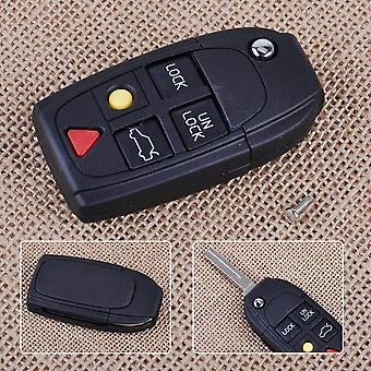 CITALL1st 5 Button Flip key Shell Folding remote Case Fob for Volvo S60 S80 V70 XC70 XC90 2003 2004 2005 2006