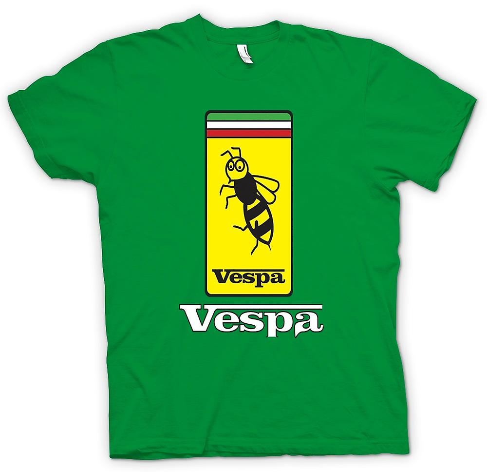 Hommes T-shirt - Vespa Scooter Badge - Bee - Mod