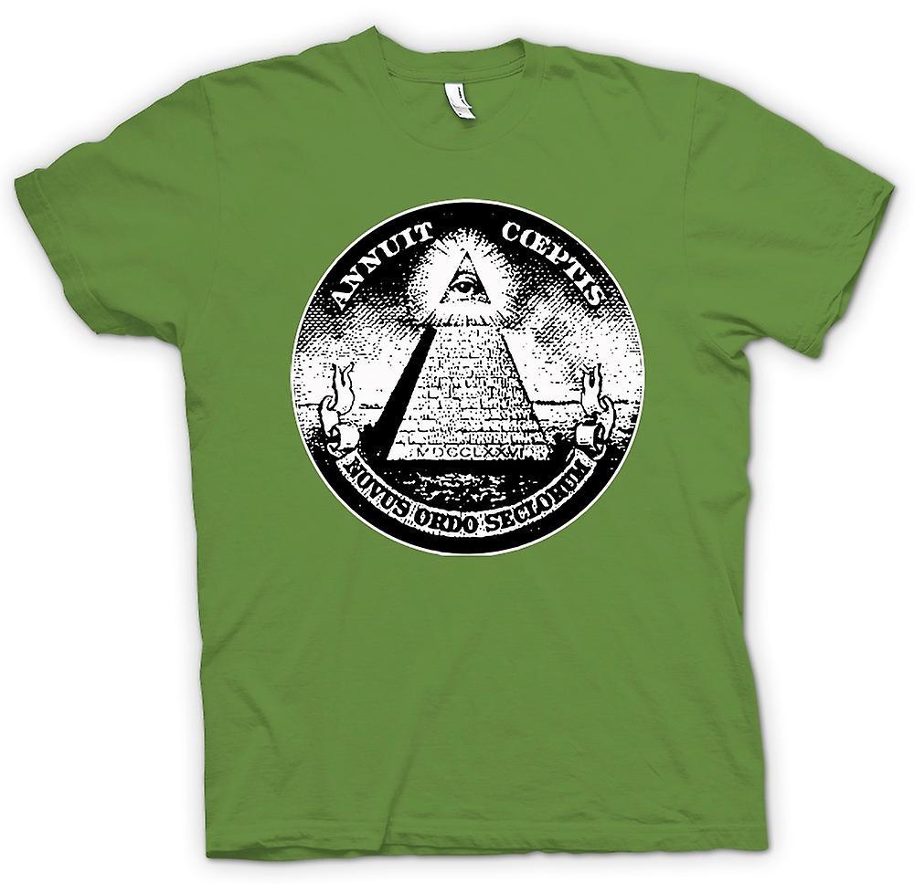 Camiseta para hombre - Illuminati - conspiración dólar