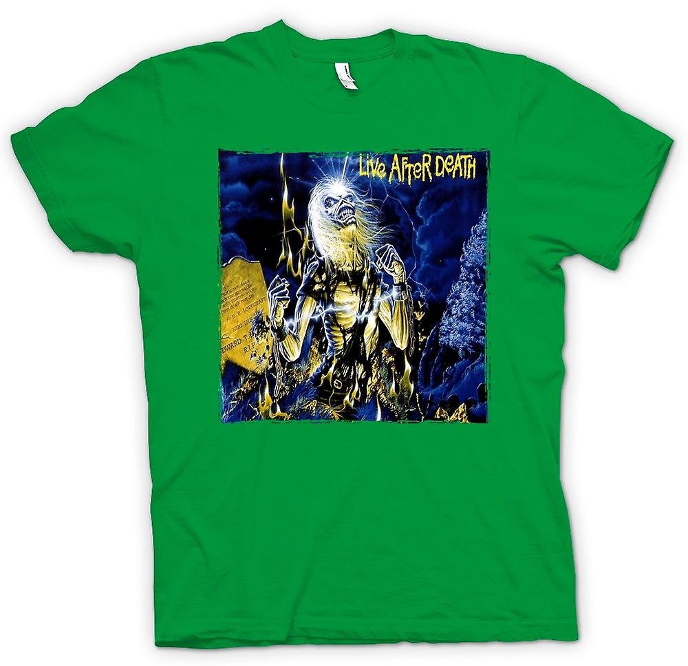 Heren T-shirt - Iron Maiden - Album Art - Live After Death