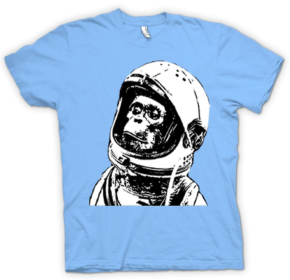 Herren T-Shirt - Space Monkey Black & White Drawing