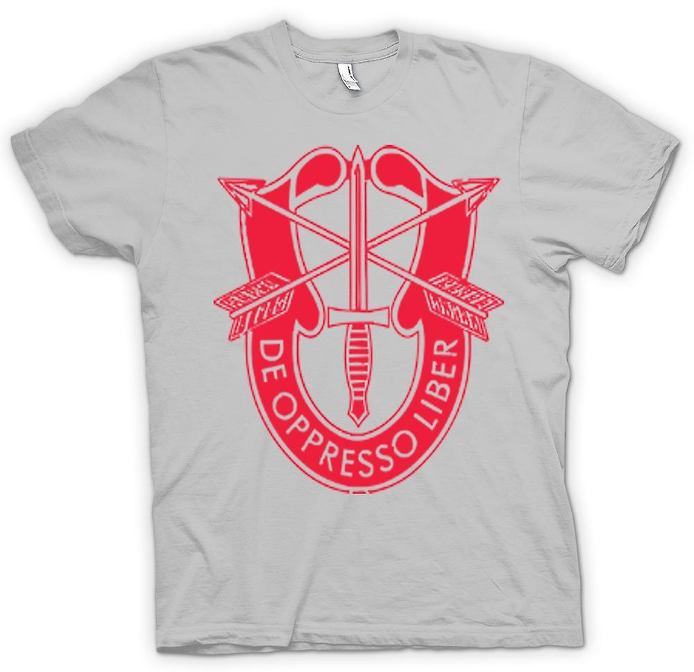 Heren T-shirt-De Oppresso Liber U.S. Special Forces Batch