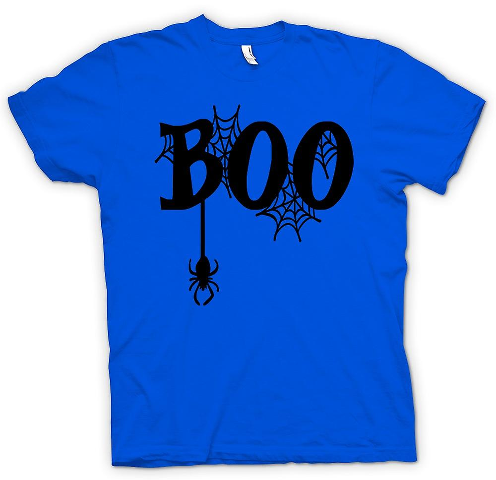 Mens T-shirt - Boo - Spiders Web - lustig