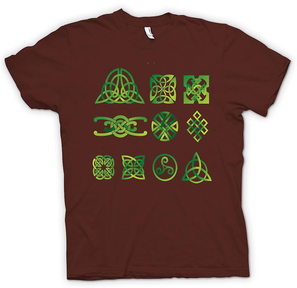 Herr T-shirt-Celtic Tribal Tattoo Designs