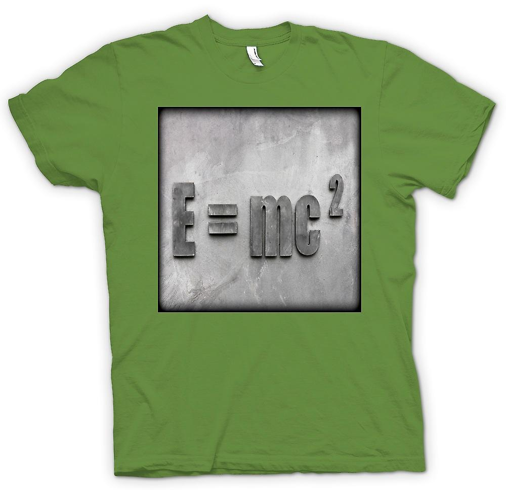 Mens t-skjorte-Einstein E = mc 2