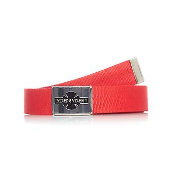 Independent Cardinal Red Clipped Web Belt
