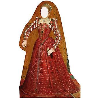 Tudor Frau Stand rein - Lifesize Karton Ausschnitt / f