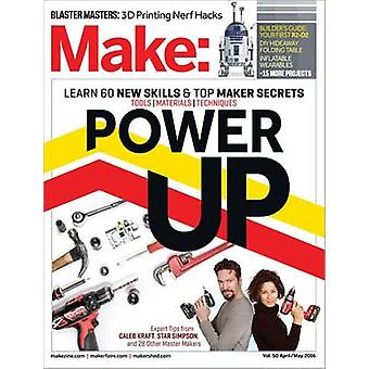 Make - Power Up - Volume 50 by Mike Senese - 9781680452167 Book