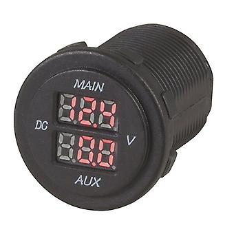 TechBrands Dual Battery LED Voltmeter